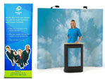 pop up and banner stand